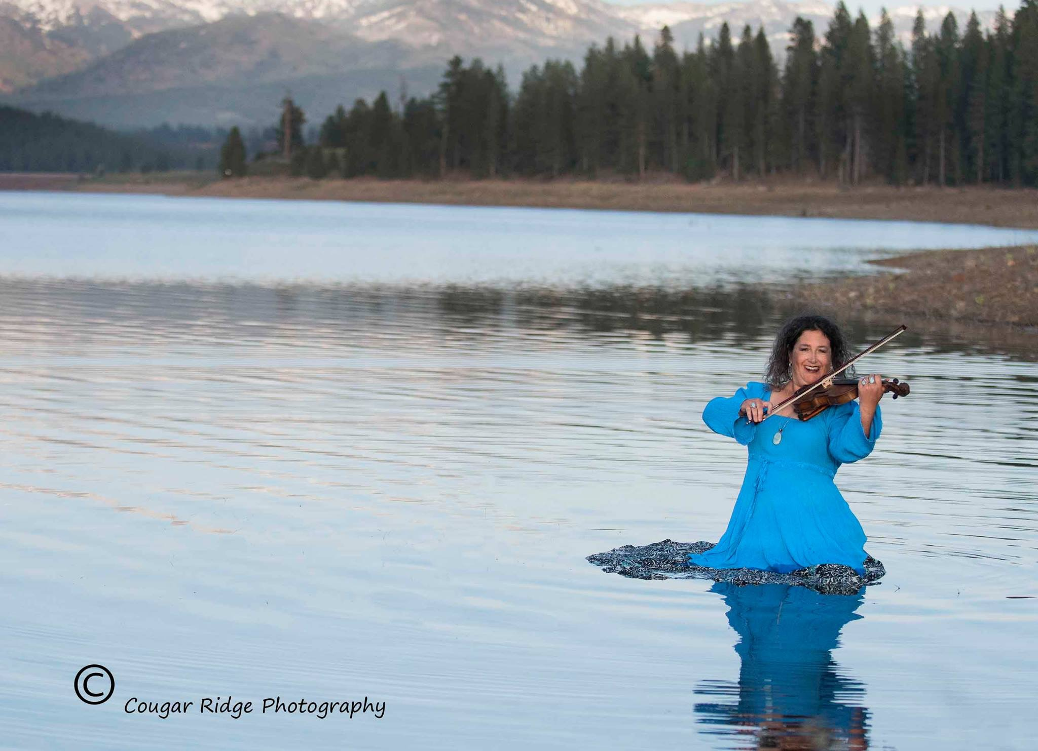 Rachel Playing the Violin in a Lake